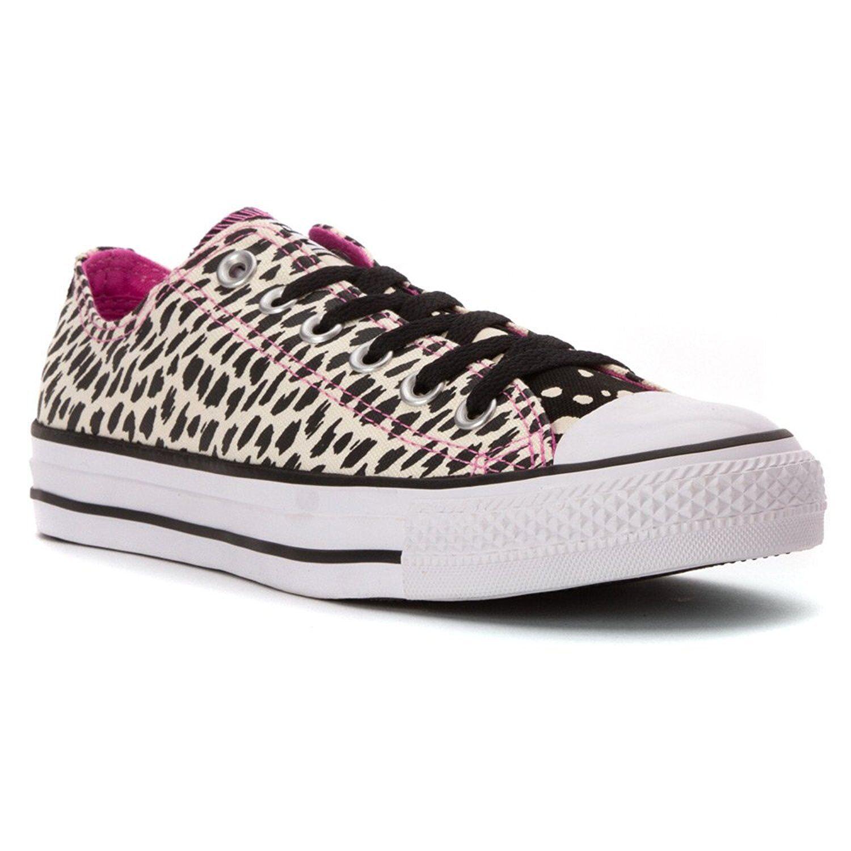 Damens Converse Chuck Taylor All Star OX Sneaker, 549681F Größes 5-9 Parchment/Bl