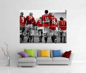 MANCHESTER UNITED LEGENDS BEST GIGGS LAW CANTONA SCHOLES CHARLTON GIANT POSTER