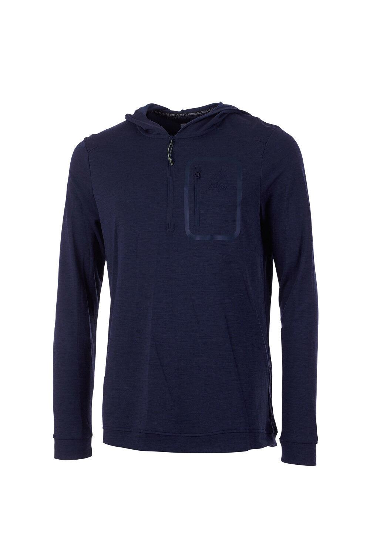 Maloja Funktionsshirt Multisportshirt Hoodie KellogM. blue Merino