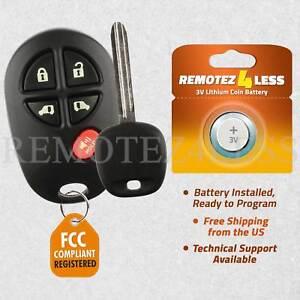 2 For 2011 2012 2013 2014 2015 Toyota Sienna Keyless Entry Remote Fob Car Key