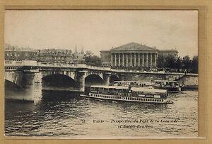 Cpa Paris - perspective du Pont de la Concorde et Palais Bourbon rp0280