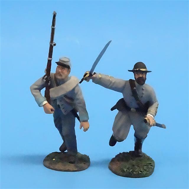 CORD-0675 - Confederates Advancing (2 Figures) - ACW - Britains - 54mm Metal