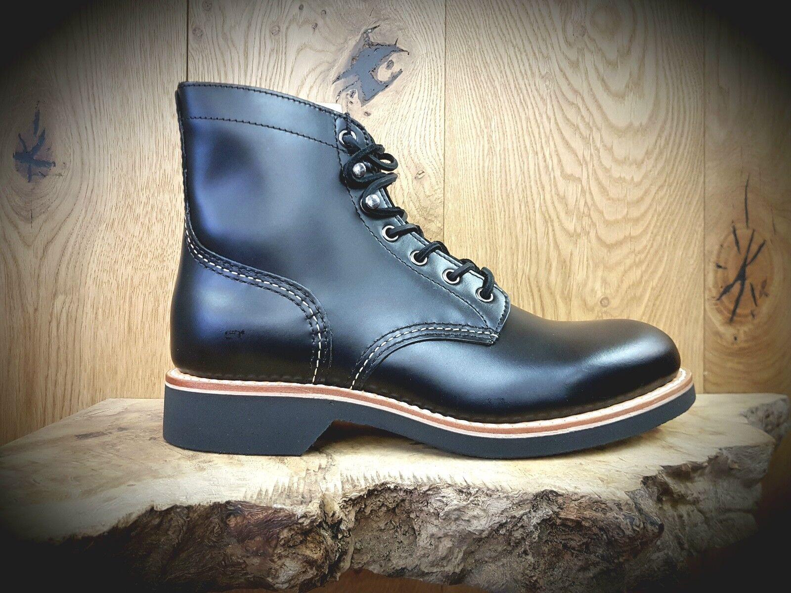 G H Bass    Duxbury    para Hombre & Co Negro botas    rojoucido fue