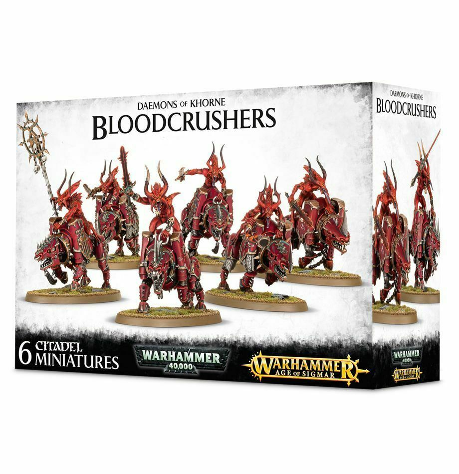 6 Bloodcrushers of Khorne Warhammer 40K 40K 40K Age Sigmar Chaos Daemons Blood Crushers 964def