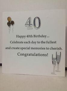40TH BIRTHDAY SENTIMENT BLOCK ART GIFT LATEST TREND | eBay