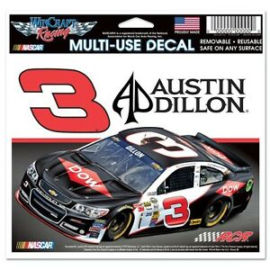New-NASCAR-3-Austin-Dillon-DOW-Ultra-Decal-4-1-2-034-BY-6-034