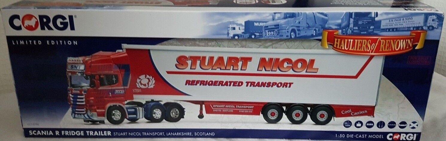 Corgi CC13750,Scania R Fridge Trailer.Stuart Nicol Transport  , 1 50