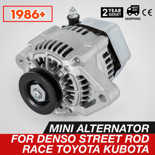 HIGH AMP ALTERNATOR MINI DENSO STYLE CHEVY STREET ROD RACE 1-WIRE HOOKUP 70AMP