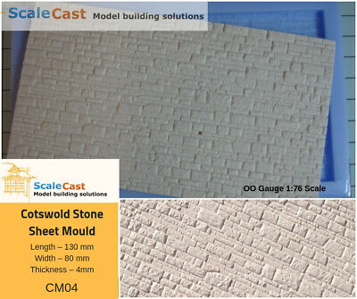 Cotswold Stone Sheet Mould - Model Railway Walling In Oo Gauge - Cm04