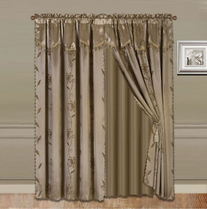 4pc Valance Panel Sheer Rod Pocket Window Curtain 4 Sizes