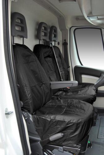 Fiat Ducato RHD Front Seats Tailored Waterproof Covers MY06-16 Black