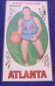 GARY-GREGOR-signed-autograph-1969-70-Topps-trading-card-Atlanta-Hawks