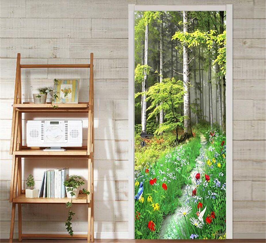 3D Wald 88 Tür Wandmalerei Wandaufkleber Aufkleber AJ WALLPAPER DE Kyra  | Qualität Produkt  | Sonderangebot  | Stil