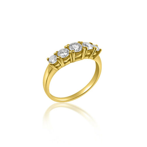 18ct Yellow Gold Graduating 5 stone diamond ring