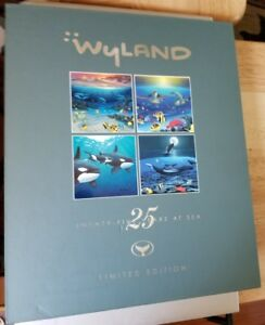 Wyland-25-Years-at-Sea-2006-Limited-Edition-Collectors-Book-Signed-Thumbprint