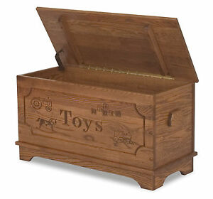 Amish-Toy-Box-Storage-Chest-Blanket-Box-Trunk-Wooden-Wood-Bedroom ...