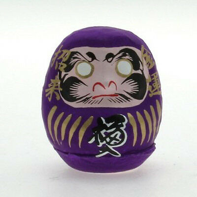 """Japanese 2-1//4/""""H Earthenware Yellow Daruma Doll Good Luck SAFETY Made in Japan"""