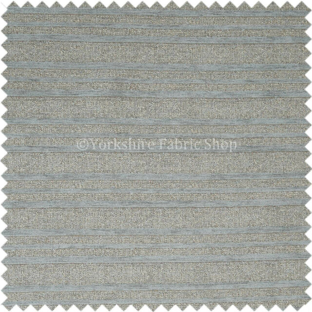 New Versatile Designer Heavyweight Striped Pattern Upholstery Fabric Blue Colour