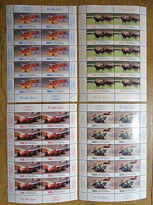 10 X Bund 2031 - 2034 Postfrisch Kb Kleinbogen Brd Zehnerbogen Rennsport 1999
