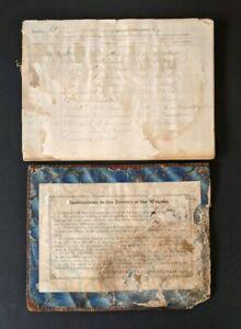 SUPER-RARE-1869-Log-Book-MERCHANTS-UNION-EXPRESS-CO-amp-Wagon-Driver-Instructions