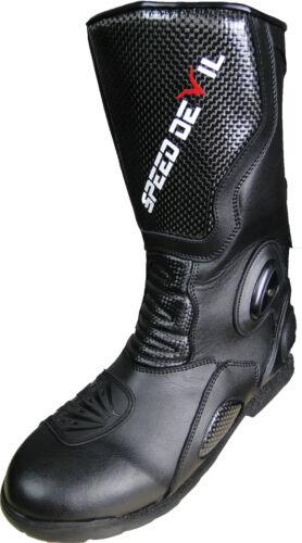 Moto Bottes étanche Cuir Boutons renforcement cheville protection 41