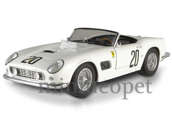 ahorre 60% de descuento Hot Wheels Wheels Wheels t6931 Elite Ferrari 250 California Spider Swb   20 1 18 blancoo  orden ahora disfrutar de gran descuento