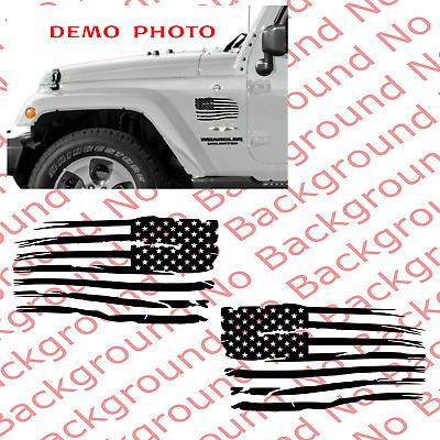 Distressed American Usa Flag Vinyl Window Decal Sticker