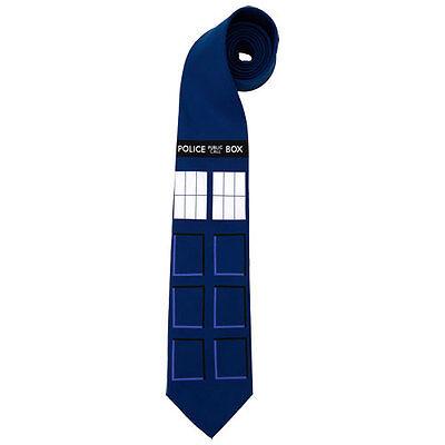 Doctor Who - TARDIS Necktie NEW neck tie costume * licensed item by Elope
