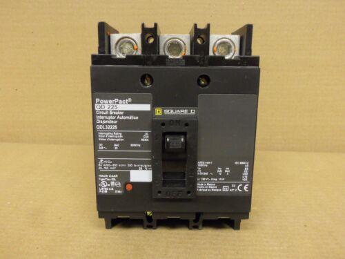 SQUARE D QDL QDL32225 3 POLE 225 AMP 240V CIRCUIT BREAKER FLAW