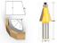 1//2 1//4 Shank 15 Degree Router Bit Chamfer Bevel Edging Woodworking Cutter
