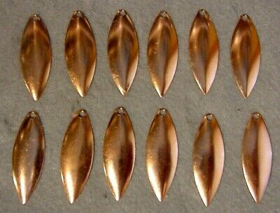 Lot of 12 Worth Mfg Copper #3 Willow Leaf Shallow Cup Spinnerbait Blades