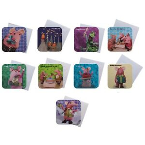 THE CLANGERS Birthday Congratulations Cheers  Cards Colour 16 cm x 16 cm Range
