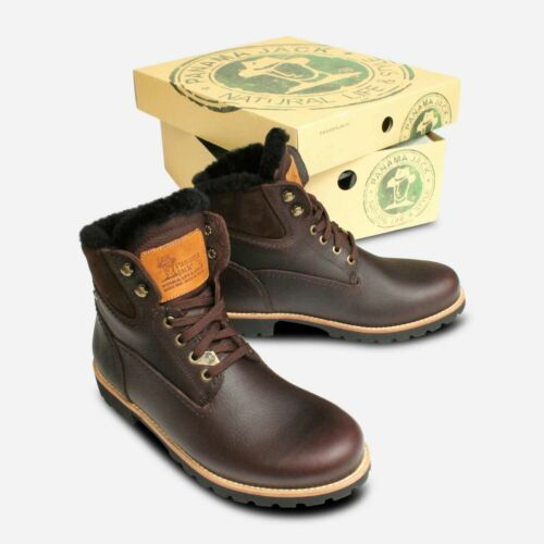Panama Jack Dark Brown Igloo Warm Lined Trekking Boots