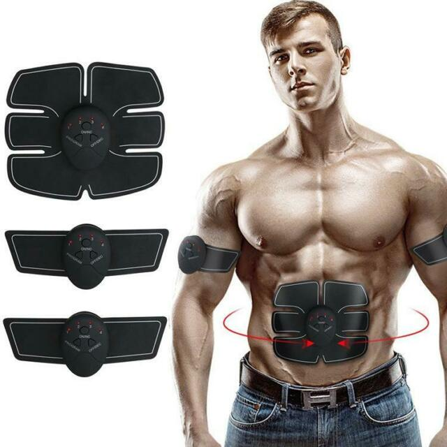 Smart Abdominal Device Pink Exercises Equipment Body Shape Muscle Stimulation Trainer Stickers Pad Fat Burning Arm Massage Sports & Entertainment