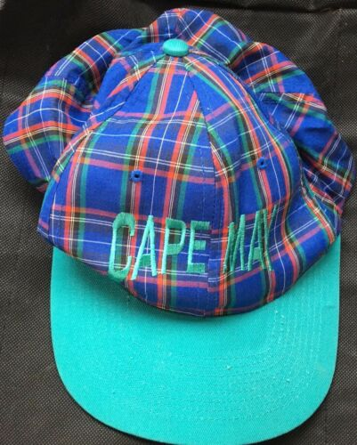 Vintage Cape May Plaid SnapBack Hat Cap New Jersey