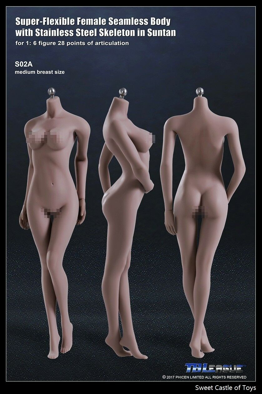 1/6 TBLeague Female Seamless Body Suntan Mid Bust S02A w/Steel Skeleton Phicen