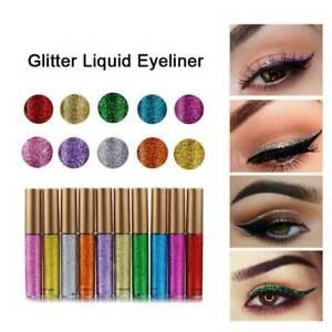 Shiny-Metallic-Eyeshadow-Glitter-Liquid-Eyeliner-Lady-Party-Makeup-Eye-Liner-New