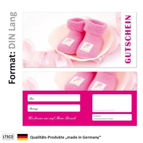 100 Geschenkgutscheine Schuhe-706 Gutscheine Handel rosa Babysachen Shopping