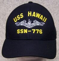Embroidered Baseball Cap Military Navy Uss Hawaii 1 Hat Size Fits All
