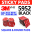thumbnail 1 - 3M™ BLACK Double Sided Pads, Strong VHB 5952 Sticky Adhesive Mounting Tape Dots