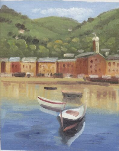 HARBOUR BOAT SCENES 30 TO CHOOSE FROM ART OIL PAINTING OR CANVAS PRINTS 8x10/""