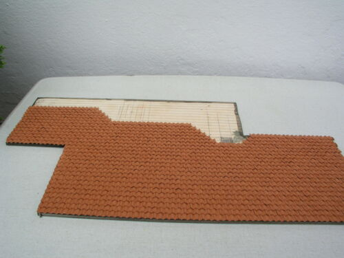 Dach Ziegel Z-03 Falzziegel Dachpfannen hellrot Modellbau Haus bauen Dachziegel