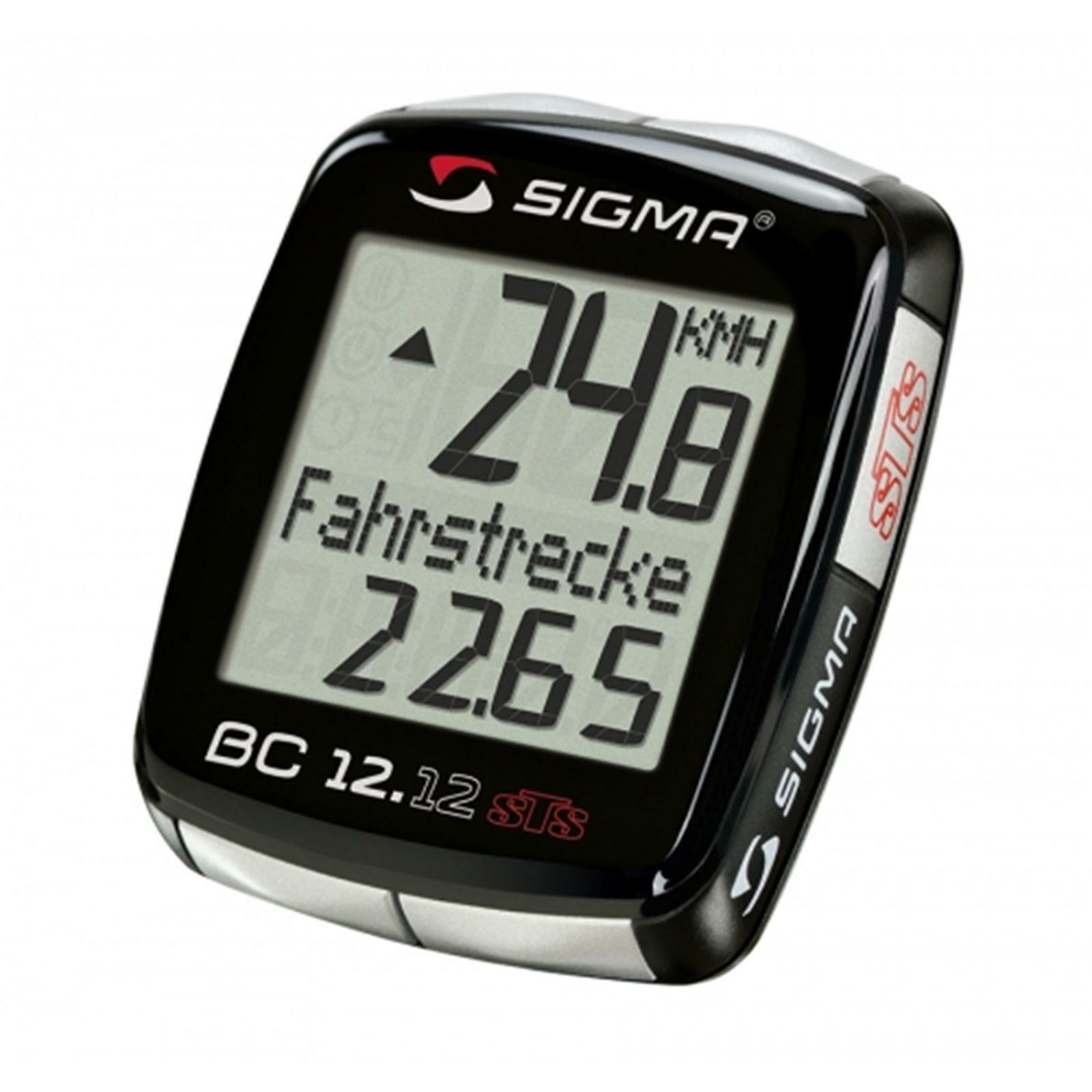 Sigma Sport Topline radcomputer bc 12.12 STS inalámbrico bicicleta velocímetro equipo