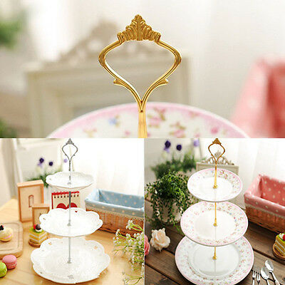 1set High Quality HotGold/Silver Crown 3 or 2 Tier Cake Plate Stand Handle