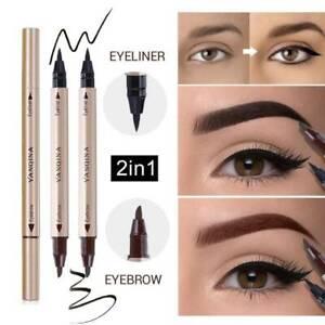 Liquido-negro-doble-cabeza-Lapicera-Lapiz-Delineador-De-Ojos-Impermeable-Delineador-Maquillaje-2-In1
