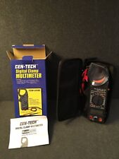 Cen Tech Digital Clamp Multimeter With Storage Case New In Box