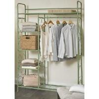 Clothes Rack Garment Clothing Storage Closet Display Retail Fixtures Store Green