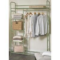Clothes Rack Garment Clothing Storage Closet Display Retail Fixtures Store Green