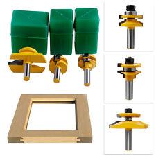 3Pcs 1/2'' Shank Rail & Stile Ogee Blade Cutter Panel Cabinet Router Bits Set