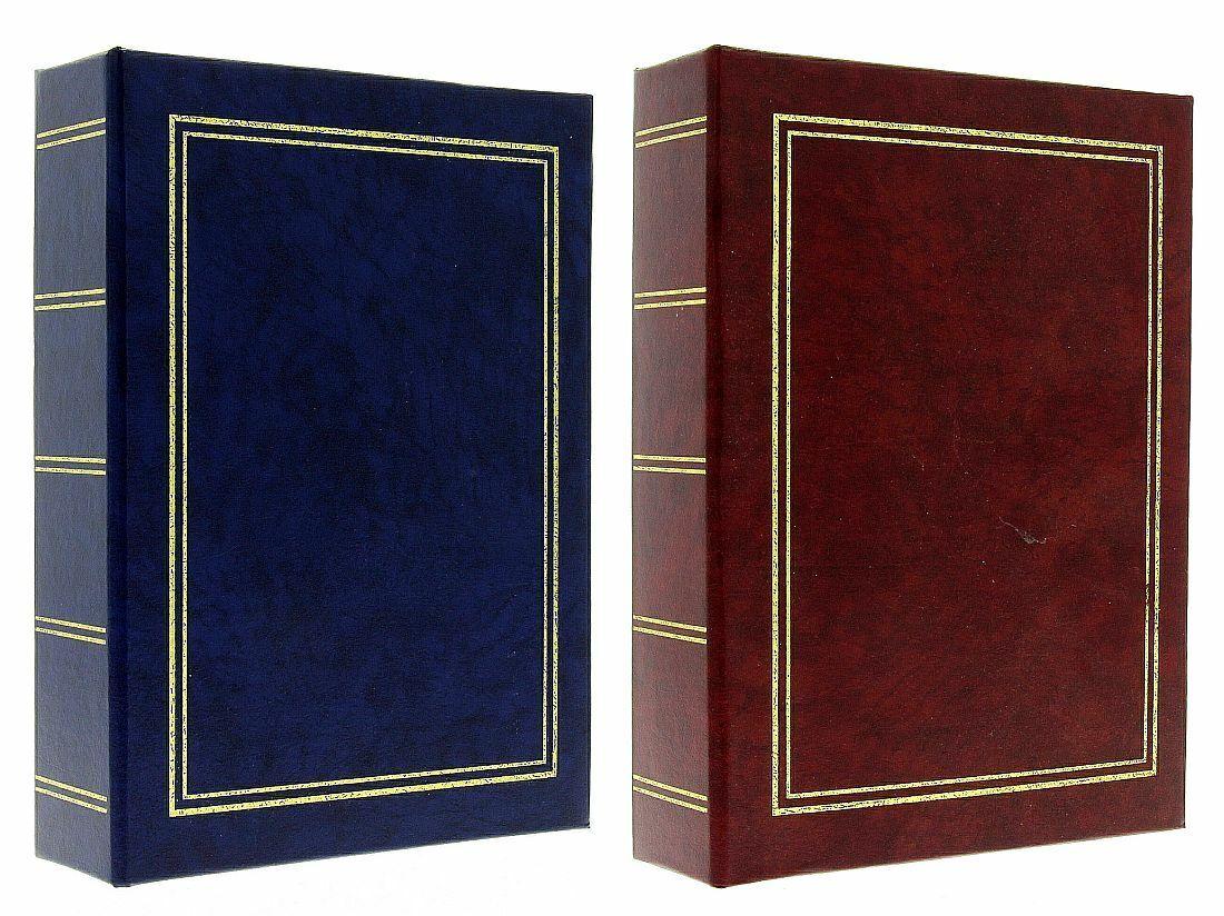 Burgundy / Navy Blue Slip In Photo Album Set 2 x 200 6